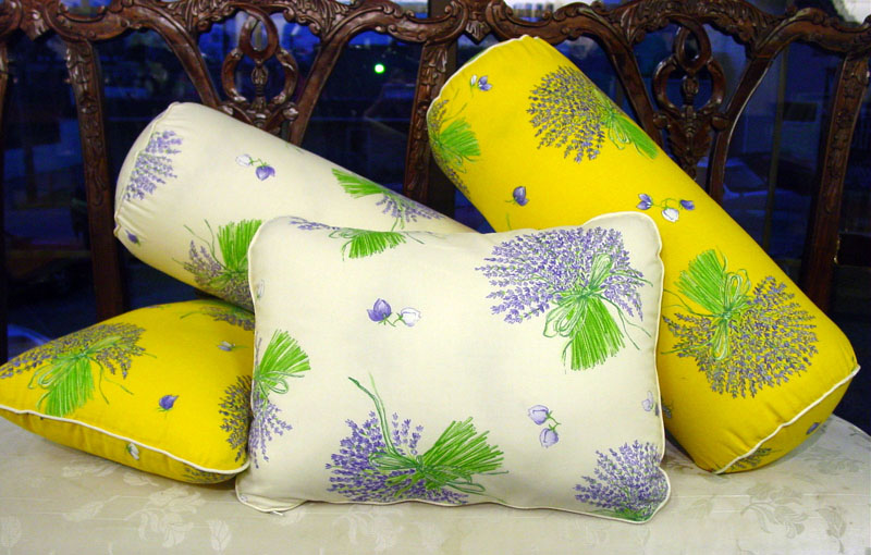 Lavender pillows filled with organic lavender and organic kapok fiber