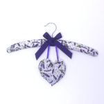 Padded Hanger with Heart Sachet - Lavender Flowers