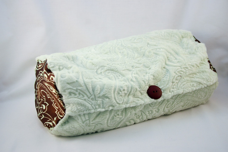 Lavender and Buckwheat Pillow in Chocolate Mint Color