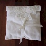 Lavender Pillow Sachet in Battenberg Lace Cover