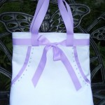 Jewels and Ribbons Bridal Tote with Lavender Sachet