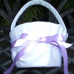 Jewels and Ribbons Flower Girl Basket