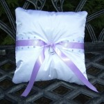Jewels and Ribbon Ring Bearer Pillow