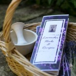 Lavender Herbs and Recipes Card with Lavender Samples