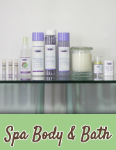 Renew your spirit and nourish your skin with pure and natural Lavender essential oil bath and body care products.