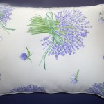 Organic Lavender Filled Boudoir Bed Pillow - Cream Print