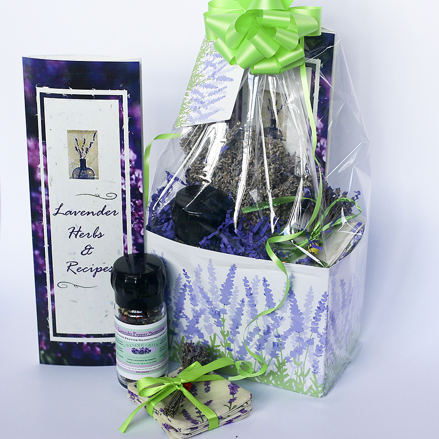 Contents of the Lavender in the Kitchen Gift Basket