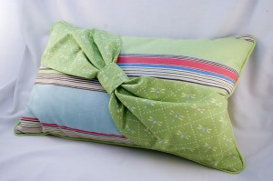 Lavender Pillow in Summertime Lime Blue Colors