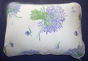 Lavender Bed Pillow - Lavender Bouquet - Cream