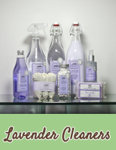 Natural Lavender laundry and cleaning products